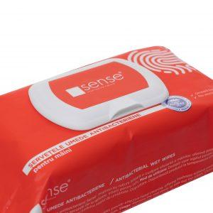 Servetele umede antibacteriene Sense pentru maini, 72 bucati/pachet